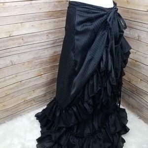 Dresses & Skirts - Steampunk Adjustable Fit Bustled Skirt Large/XL